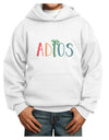 Adios Youth Hoodie White Extra-Large Tooloud