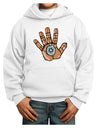 Cardano Hero Hand Youth Hoodie White Extra-Large Tooloud