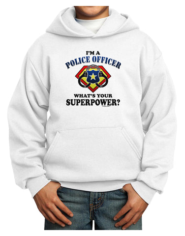 Police Officer - Superpower Youth Hoodie Pullover Sweatshirt