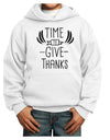 Time to Give Thanks Youth Hoodie White Extra-Large Tooloud