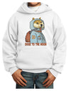 Doge to the Moon Youth Hoodie White Extra-Large Tooloud
