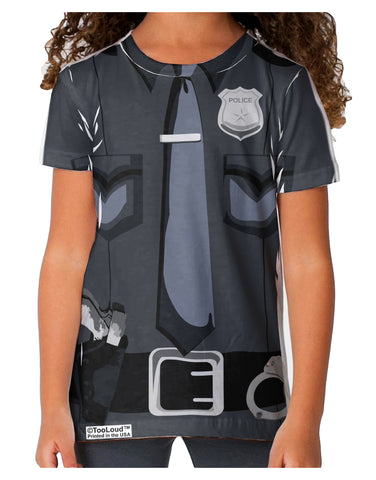 Police Costume AOP Toddler T-Shirt Single Side All Over Print