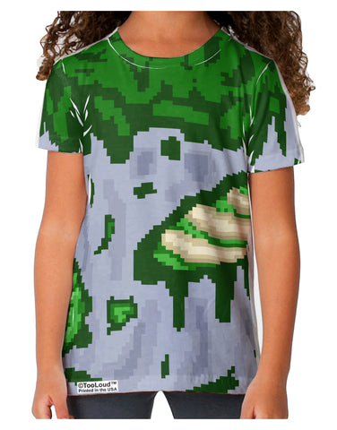 Pixel Zombie Costume Green Toddler T-Shirt Single Side All Over Print