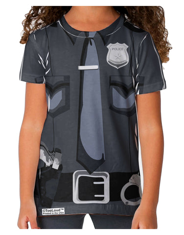Police Costume AOP Toddler T-Shirt Dual Sided All Over Print