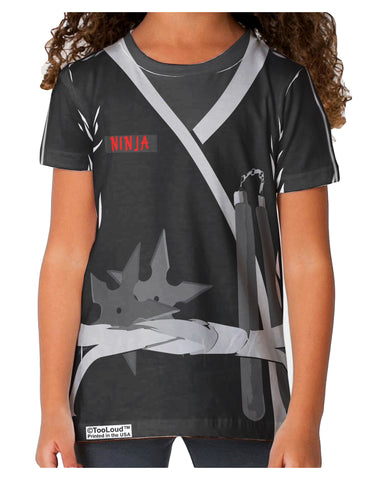 Ninja Black AOP Toddler T-Shirt Dual Sided All Over Print