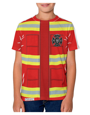 Firefighter Red AOP Youth T-Shirt Single Side All Over Print