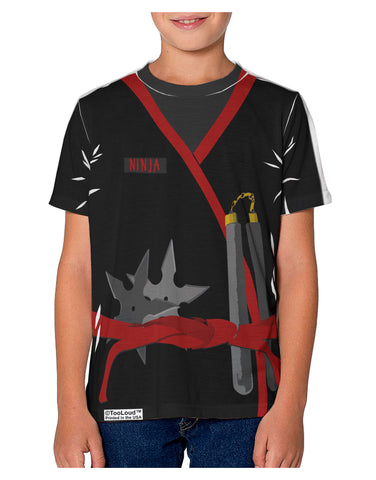 Ninja Red AOP Youth T-Shirt Single Side All Over Print