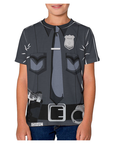 Police Costume AOP Youth T-Shirt Dual Sided All Over Print