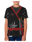 Ninja Red AOP Youth T-Shirt Dual Sided All Over Print