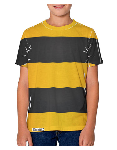 Bee Stripe Costume Youth T-Shirt Dual Sided All Over Print