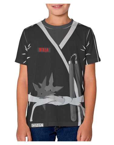 Ninja Black AOP Youth T-Shirt Dual Sided All Over Print