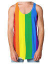Rainbow Vertical Gay Pride Flag Loose Tank Top Dual Sided All Over Print by