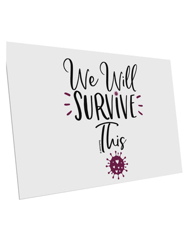 TooLoud We will Survive This 10 Pack of 6x4 Inch Postcards