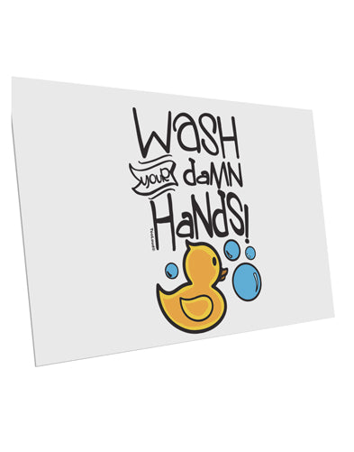 TooLoud Wash your Damn Hands 10 Pack of 6x4 Inch Postcards
