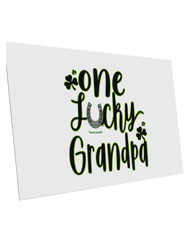 TooLoud One Lucky Grandpa Shamrock 10 Pack of 6x4 Inch Postcards