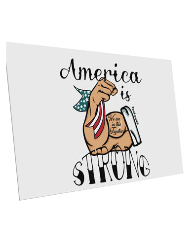 TooLoud America is Strong We will Overcome This 10 Pack of 6x4 Inch Po