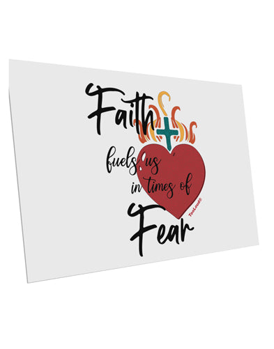 TooLoud Faith Fuels us in Times of Fear  10 Pack of 6x4 Inch Postcards