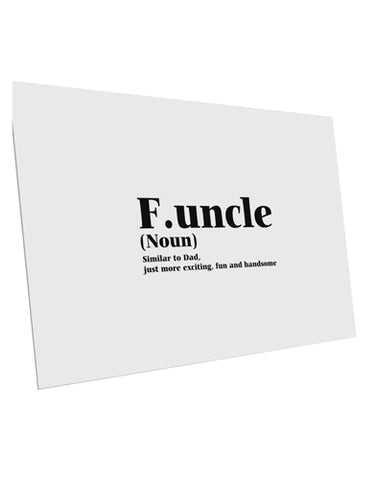"Funcle - Fun Uncle 10 Pack of 6x4"" Postcards by TooLoud"