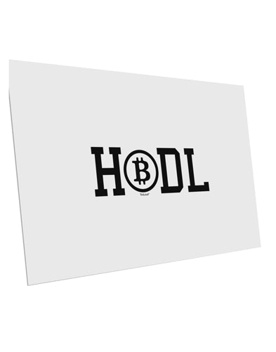 TooLoud HODL Bitcoin 10 Pack of 6x4 Inch Postcards
