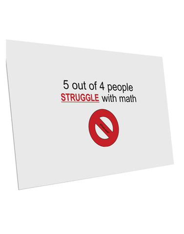 "5 out of 4 People Funny Math Humor 10 Pack of 6x4"" Postcards by TooLoud"