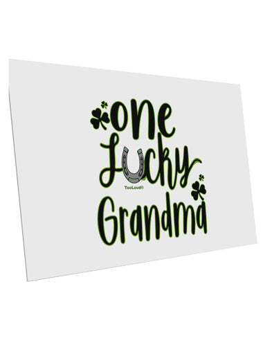 TooLoud One Lucky Grandma Shamrock 10 Pack of 6x4 Inch Postcards