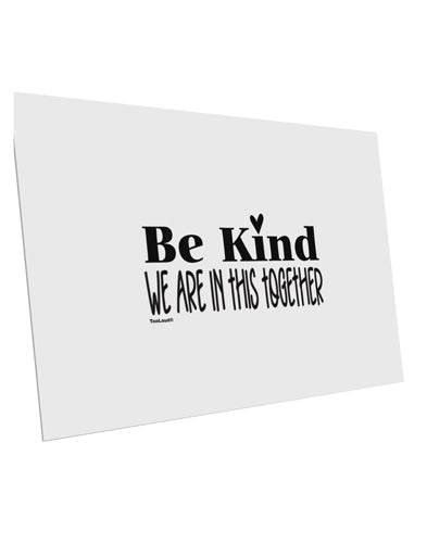 TooLoud Be kind we are in this together  10 Pack of 6x4 Inch Postcards