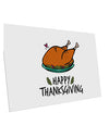 TooLoud Happy Thanksgiving 10 Pack of 6x4 Inch Postcards