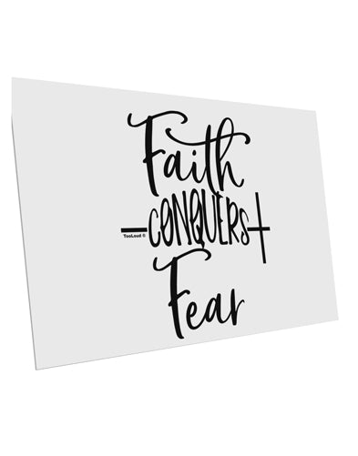 TooLoud Faith Conquers Fear 10 Pack of 6x4 Inch Postcards