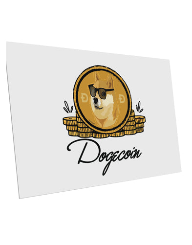TooLoud Doge Coins 10 Pack of 6x4 Inch Postcards