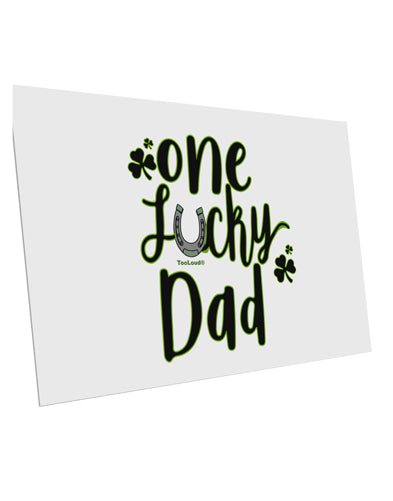 TooLoud One Lucky Dad Shamrock 10 Pack of 6x4 Inch Postcards