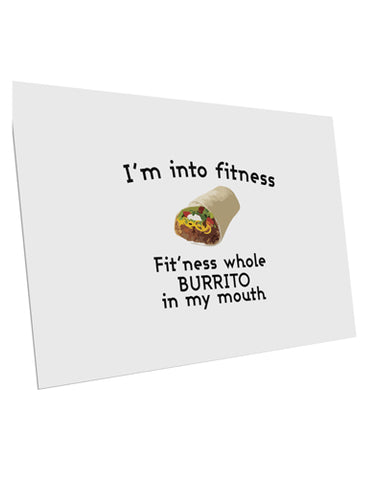 "I'm Into Fitness Burrito Funny 10 Pack of 6x4"" Postcards by TooLoud"