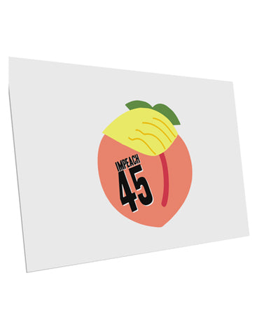 "Impeach Peach Trump 10 Pack of 6x4"" Postcards by TooLoud"