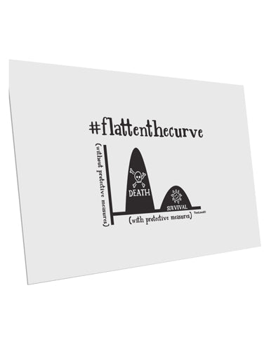 TooLoud Flatten the Curve Graph 10 Pack of 6x4 Inch Postcards