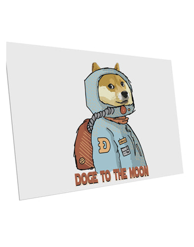 TooLoud Doge to the Moon 10 Pack of 6x4 Inch Postcards