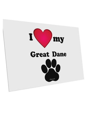 "I Heart My Great Dane 10 Pack of 6x4"" Postcards by TooLoud"