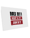 TooLoud BACK OFF Keep 6 Feet Away 10 Pack of 6x4 Inch Postcards