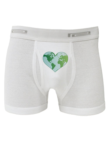 TooLoud World Globe Heart Boxer Briefs