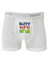 Happy Mardi Gras Text 2 Boxer Briefs