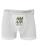 Aquarius Symbol Boxer Briefs