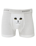TooLoud Yellow Amber-Eyed Cute Cat Face Boxer Briefs