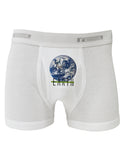 Planet Earth Text Boxer Briefs