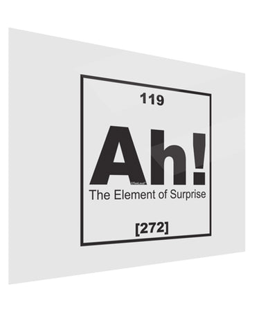 Ah the Element of Surprise Funny Science Gloss Poster Print Landscape - Choose Size by TooLoud