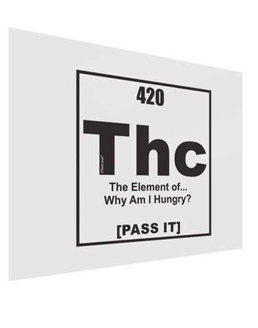 420 Element THC Funny Stoner Gloss Poster Print Landscape - Choose Size by TooLoud