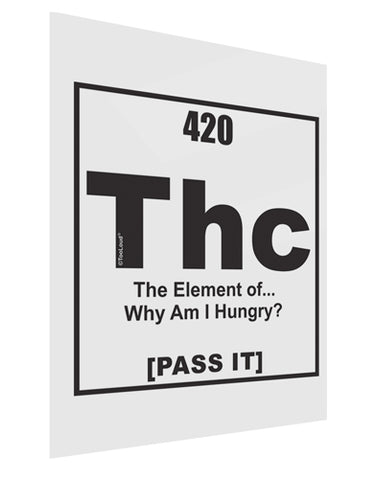 420 Element THC Funny Stoner Gloss Poster Print Portrait - Choose Size by TooLoud