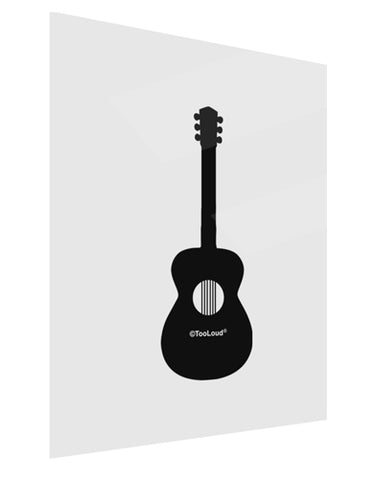 Acoustic Guitar Cool Musician Gloss Poster Print Portrait - Choose Size by TooLoud