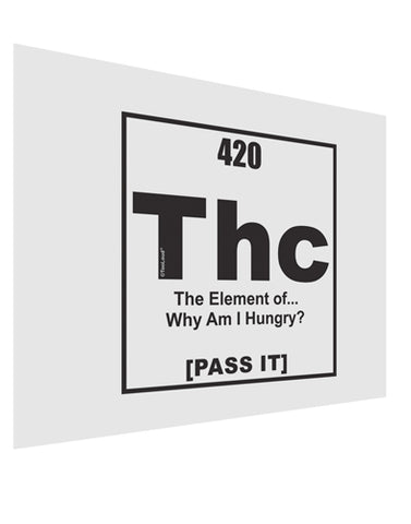 420 Element THC Funny Stoner Matte Poster Print Landscape - Choose Size by TooLoud