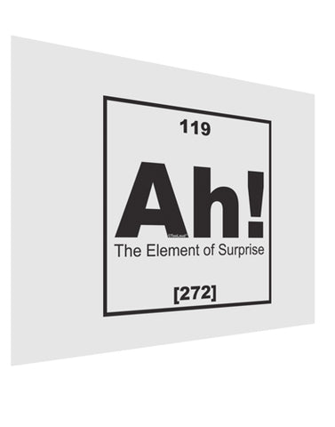Ah the Element of Surprise Funny Science Matte Poster Print Landscape - Choose Size by TooLoud