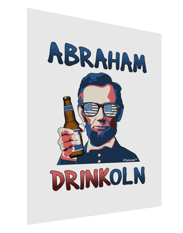 Abraham Drinkoln with Text Matte Poster Print Portrait - Choose Size