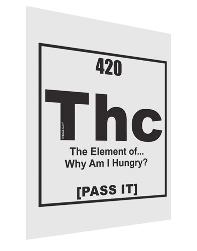 420 Element THC Funny Stoner Matte Poster Print Portrait - Choose Size by TooLoud