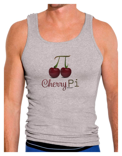 Cherry Pi Mens Ribbed Tank Top
